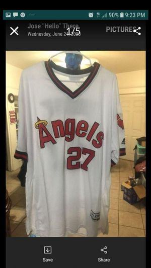 "Mike Trout ""Retro"" Mitchell & Ness Throwback Jersey Mens Size 3X for Sale in Whittier, CA"