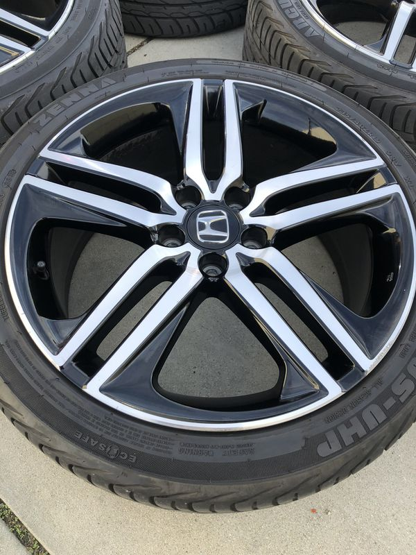 Rims and tires 19x8 5x114.3 for Honda acord sport
