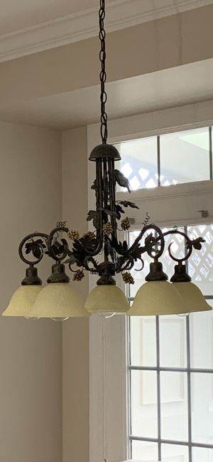Gorgeous grape detail chandelier- perfect for kitchen for Sale in Rockville, MD