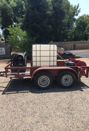 Carson trailer with 2 pressure washers and reels for Sale in Visalia, CA