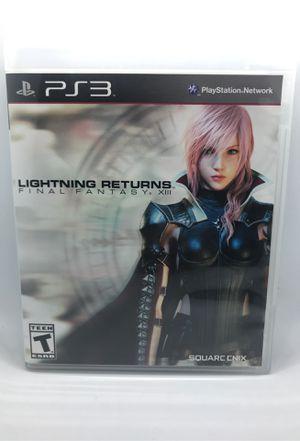 Final Fantasy X111 Lightning Returns Sony PlayStation 3 for Sale in Corona, CA