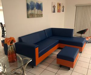 Leather sectional couch brand new for sale for Sale in Miami, FL