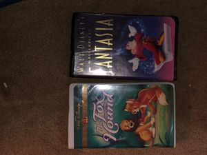 Used, good condition Disney VHS collectibles! Two of the best titles - The Fox and the hound Walt Disney gold classic collection And Walt Disney's ma for Sale in Austin, TX