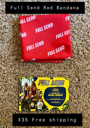 FULL SEND BY NELKBOYS RED BANDANA for Sale in Claremont, CA