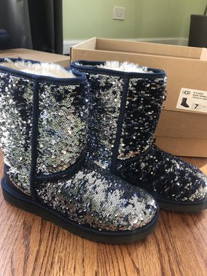 Blue Sequin Ugg Boots for Sale in Chicago, IL