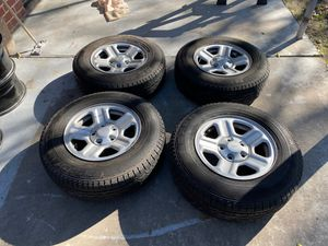 5 wheels and tires Jeep Wrangler for Sale in Houston, TX