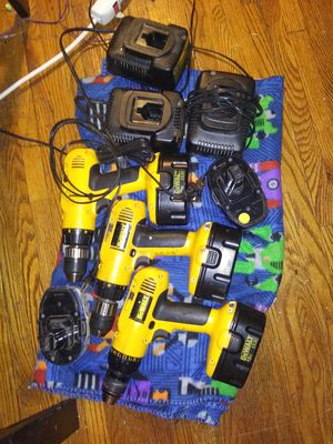 Dewalt dw995 drills and 18v xr2 batteries and chargers for Sale in Saint Paul, MN