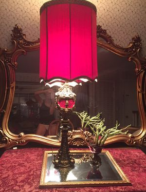Antique one of a kind red lamp for Sale in Grosse Pointe Park, MI