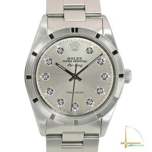 Rolex Air King Unisex Watch Stainless Steel Watch Silver Diamond Dial 34mm for Sale in HUNTINGTN BCH, CA