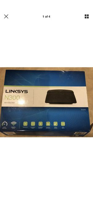Linksys E1200 300 Mbps 4-Port 10/100 Wireless N Router for Sale in Columbus, OH