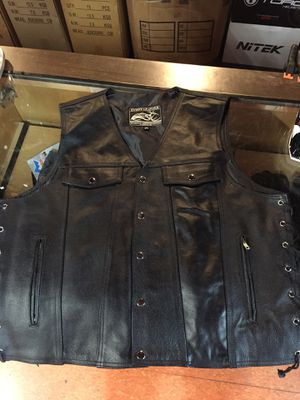 New motorcycle leather vest $90 for Sale in Santa Fe Springs, CA