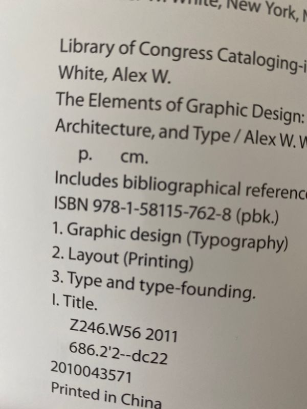 The Elements of Graphic design by Alex W. White 2nd Ed