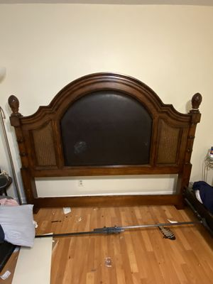 King Size bed. Headboard, side rails, frame, and foot board. for Sale in Tamarac, FL