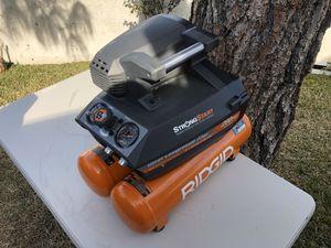 RIDGID 4.5 Gal. Portable Electric Quiet Air Compressor for Sale in Riverside, CA