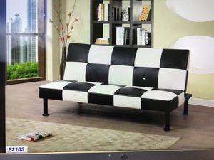 Black / white checker style futon sofa bed ( new) for Sale in San Mateo, CA
