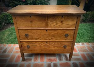 RARE ANTIQUE Dresser/Chest of Drawers TIGER OAK for Sale in San Diego, CA