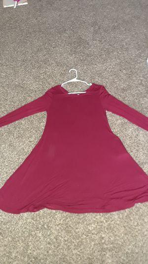 burgundy long sleeve dress for Sale in Haysville, KS