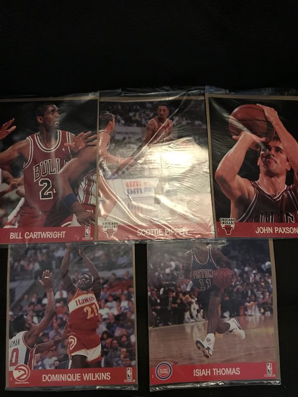 Anyone a NBA fans? NBA 8x 10 Picture Player Cards $4ea ea All in Sealed Clear Plastic Bags John Paxson-Bill Cartwright-Scottie Pipan Isiah