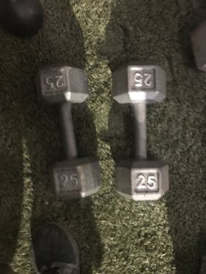 Dumbbells and curl bar for Sale in Riverside, CA