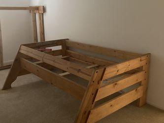 Natural Oak Twin Over Full Bunkbed Bedroom Set for Sale in Sloan,  NV