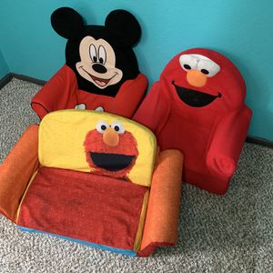 Toddlers Couches Elmo, Sesame Street And Mickey Mouse for Sale in Ontario, CA