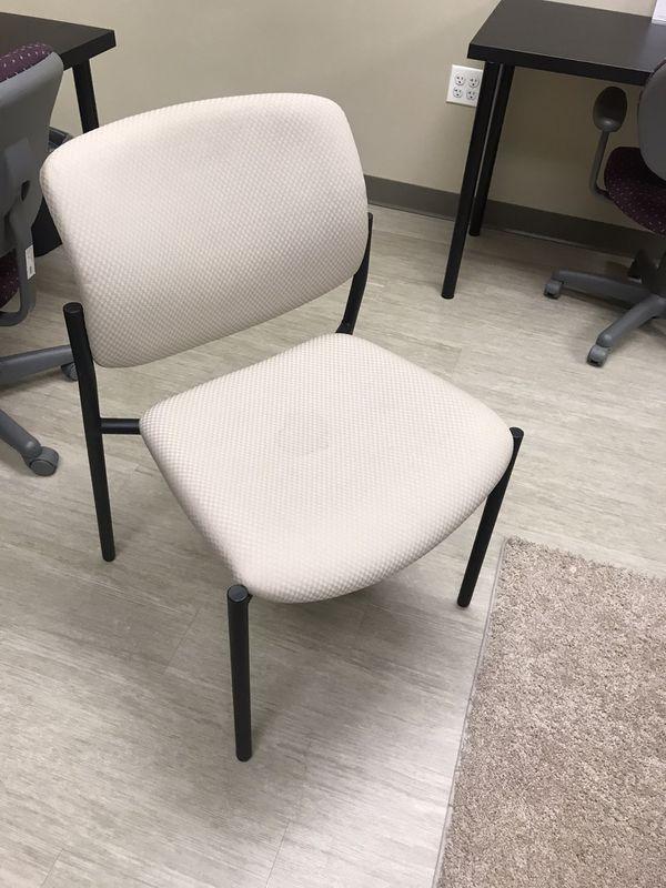 Cream desk/reception chair