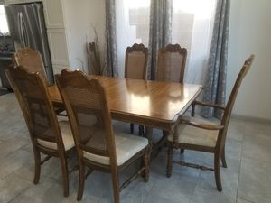 Antique wooden Dining room table and chairs for Sale in Scottsdale, AZ