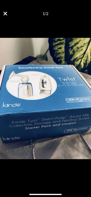Kiinde Twist breastfeeding starter pack kit New in box item, never used. for Sale in Grand Prairie, TX