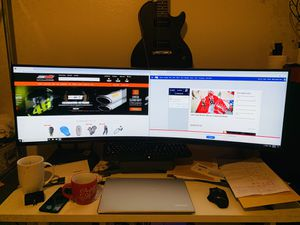 "49"" CHG90 QLED Samsung curved monitor w/ box. Bought in July for Sale in West Covina, CA"