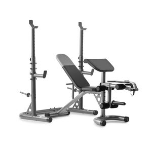 Weider Adjustable Olympic Weight Bench with Independent Squat Rack and Preacher Pad for Sale in Baldwin Park, CA