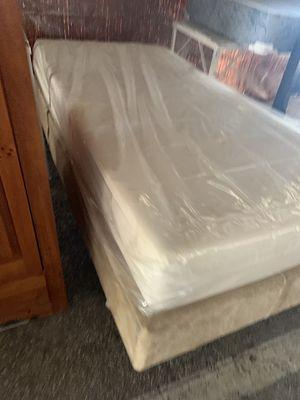 Twin Size Bed Set All Like New MemoryFoam W/Frame for Sale in Ocala, FL
