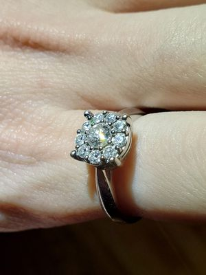 14 KARAT WHITE GOLD DIAMOND RING for Sale in Litchfield, CT