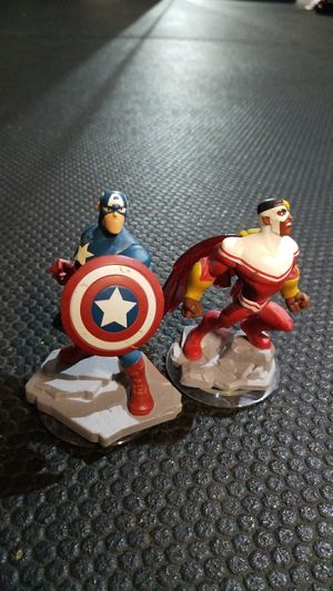 Captain America and falcon Disney infinity characters for Sale in Enfield, CT