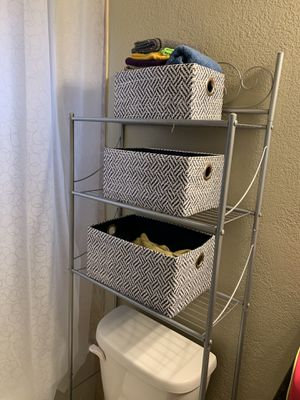 Bathroom Shelves with bins for Sale in San Diego, CA