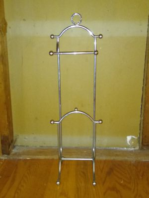 Stainless steel toilet paper holder and magazine rack for Sale in Dallas, TX