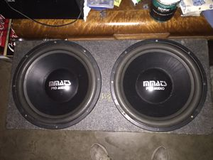 "2 15"" MMATS PRO AUDIO Subwoofers! for Sale in Cary, NC"
