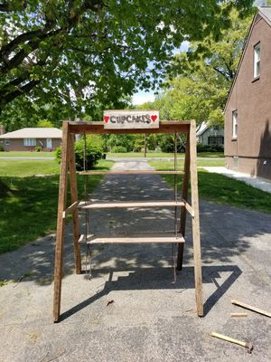 3 tier rustic outdoor swinging shelf. for Sale in Perry Hall, MD