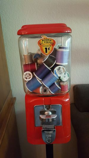 Antique gumball machine on stand for Sale in Wilsonville, OR