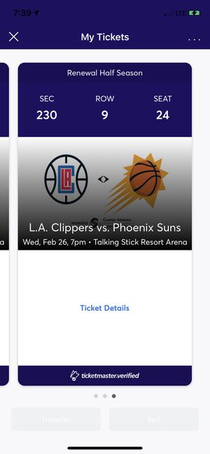 3 CLIPPERS VS SUNS SIXTHMAN TICKETS for Sale in Peoria, AZ