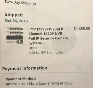 5mp (2592x1920p) 8 Channel 1920p NVR PoE IP Security System (7 cam) for Sale in Davie, FL