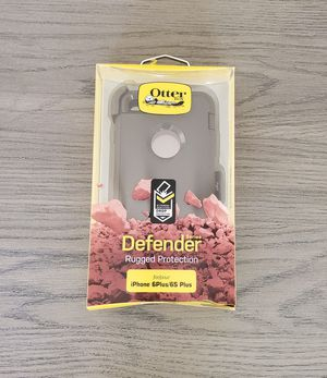 iPhone 6 Plus/6S Plus Otterbox Defender Case with belt clip holster black for Sale in Canyon Country, CA
