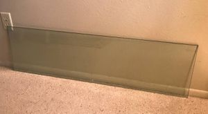 Rectangle Clear Glass Top piece for sofa hall entry console table for Sale in Tempe, AZ