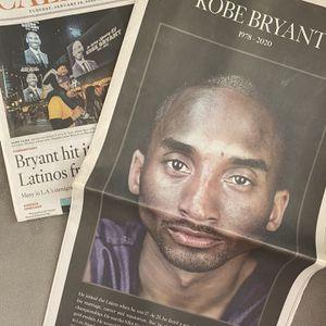 Kobe Bryant LA Times Newspaper 💜💛 for Sale in Rowland Heights, CA