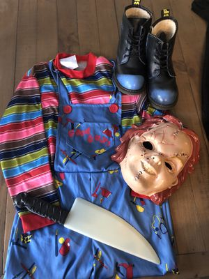 Chucky costume kids m-l for Sale in Palm Springs, FL