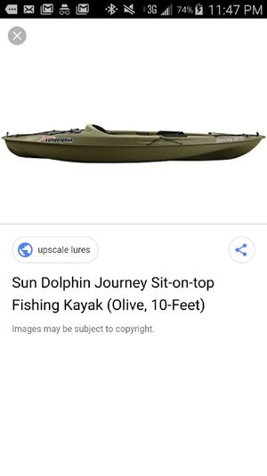 Sun dolphin Journey sit on top fishing Kayak (Olive 10ft) for Sale in McDonough, GA