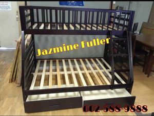 Twin over full bunk bed with drawers for Sale in Peoria, AZ