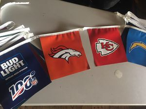 New 40' long Bud Light All teams vinyl football beer string banner for Sale in Chino Hills, CA