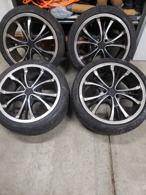 Rims and tires. for Sale in Lancaster, CA