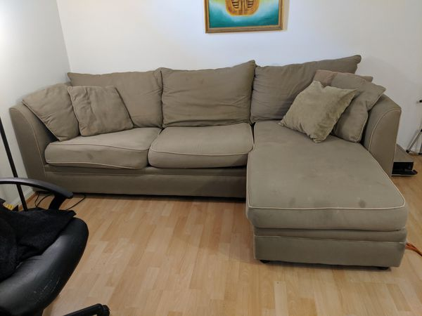 Sectional sofa with Queen size bed.. Only slept in two times...FREE