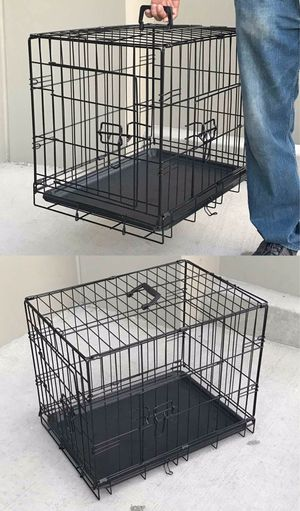 New in box 24x17x20 inches tall foldable 2 doors dog cage crate kennel 25 lbs capacity jaula de perro for Sale in Whittier, CA